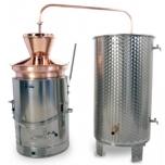 Destilaator 80L multifunktsionaalne gaas/tahkeküte