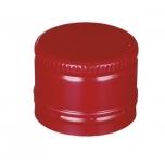 Metallkork 31,5x24mm keermestamata 1000tk, punane