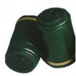 Termokahanev kapsel roheline-kuldne Ø30.5x50mm 100tk