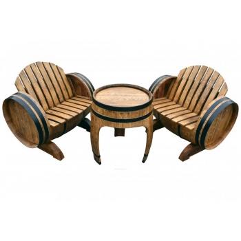 Tammevaadist mööbel Barrel-2 56x77cm 2-tooliga
