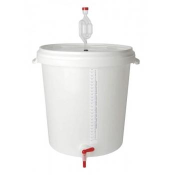 Kääritusnõu 30l kraani, õhuluku ja mõõteribaga