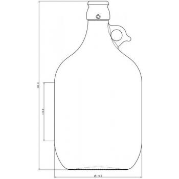 Klaaspudel 5l Demijohn