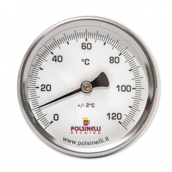 Mahuti termomeeter 0-120C 65mm, AISI304