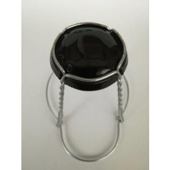 Vahuveini-siidri ja õllekorgi traat 26,5mm must müts+metallik traat 1000tk