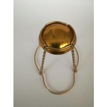 Vahuveini ja siidrikorgi traat 29,7mm üleni kuldne 1000tk