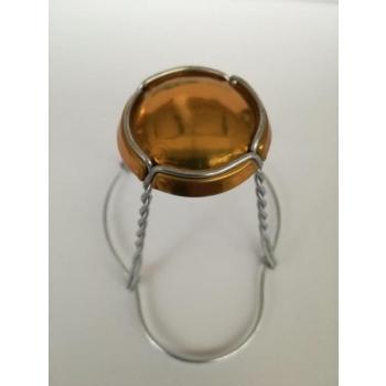 Vahuveini ja siidrikorgi traat 29,7mm, kuldne müts metall traat 1000tk