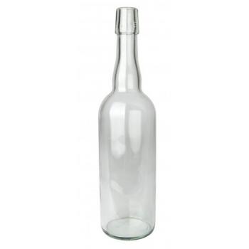Klaaspudel 750ml läbipaistev 585g 12tk/karp flip-top