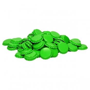 Kroonkork 26mm 1000tk, erk-roheline (lime)