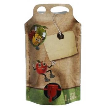 Säilituskott 1,5l püstine pouch-up (temp.taluvus +80C)