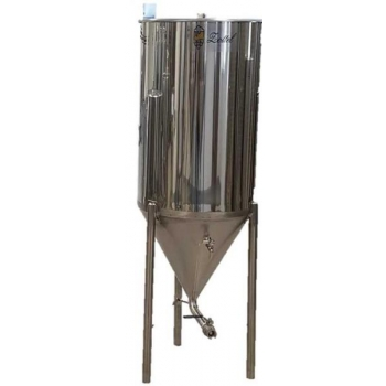 Fermenteerimise ja käärituse 200l jahutussärgiga, roostevaba
