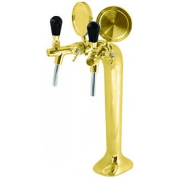 Õlletorn Lindr T 2-kraaniga, kuldne