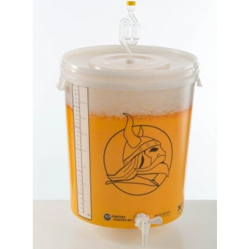 Kääritusnõu 32l kraani, õhuluku ja mõõteribaga