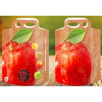 Säilituskott 3l püstine pouch-up õun (temp.taluvus +80C)
