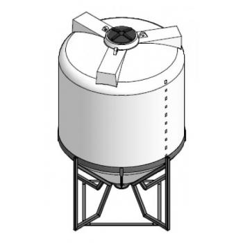 Plastmahuti 6300l (koonuspõhi), metallalusel