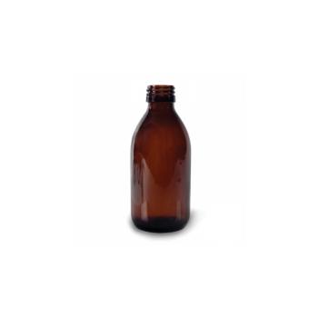 Klaaspudel Apteek 250ml, pruun 28mm korgile