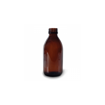 Klaaspudel Apteek 150ml, pruun 28mm korgile