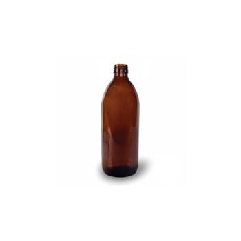 Klaaspudel Apteek 500ml, pruun 28mm korgile
