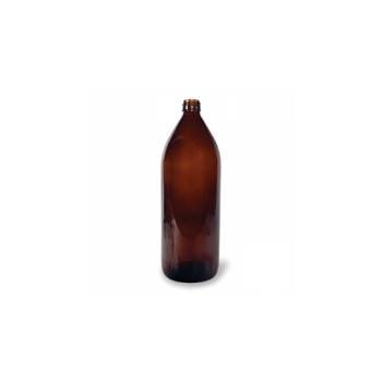 Klaaspudel Apteek 1000ml, pruun 28mm korgile