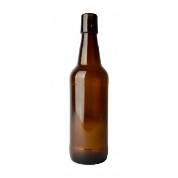 Klaaspudel 500ml 380g flip-top