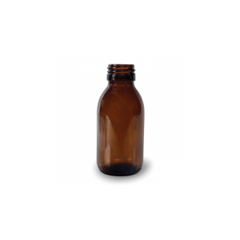 Klaaspudel Apteek 100ml, pruun 28mm korgile