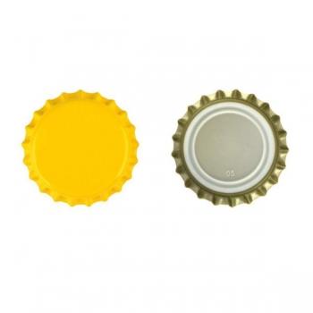 Kroonkork 26mm 100tk, kollane