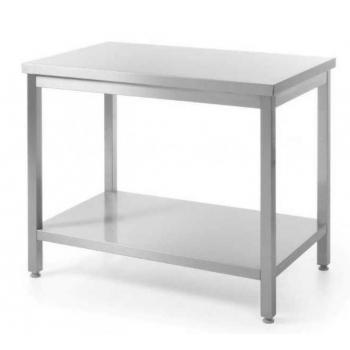 Roostevaba laud 1600x600x(H)850mm, tagaääreta