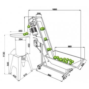 Purustaja ja pesuseade 1000kg/h