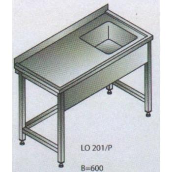 Roostevaba laud 900x700x850mm, valamu paremal