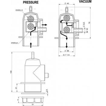 Õhulukk V11 100-1500l mahutile, kääritamiseks