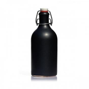 Keraamiline pudel 500ml matt/must