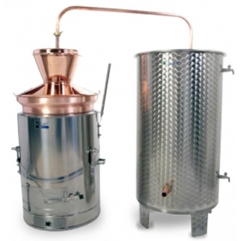Destilaator 60L multifunktsionaalne gaas/tahkeküte