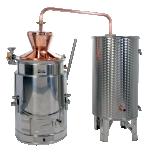 Destilaator 100L multifunktsionaalne gaas/tahkeküte