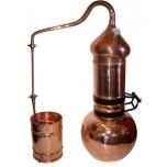 Destilaator 3L Alembric Flip Top, termomeetriga