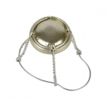 Vahuveini ja siidrikorgi traat 29,7mm kuldne müts, metall traat 100tk