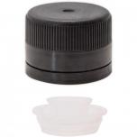 Keeratav plastkork 31,5mm must, adapteriga 100tk