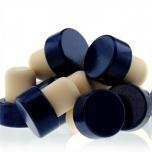 Sünteetiline T-kork 19mm 35/29mm 500tk, puit sinine