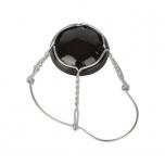 Vahuveini-siidri ja õllekorgi traat 26,5mm must müts+metallik traat 100tk