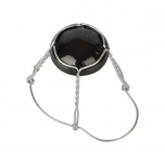 Shampusekorgi traat 26,5mm 100tk, musta mütsiga