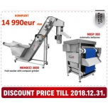 Lintpressi komplekt Maurer pesuseadmega 300kg/h