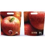 Säilituskott 3l punane õun püstine/pouch-up (temp.taluvus +80C)