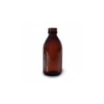Klaaspudel Apteek 200ml, pruun 28mm korgile