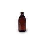 Klaaspudel Apteek 300ml, pruun 28mm korgile