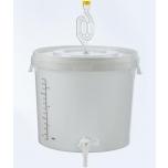 Kääritusnõu 16l kraani, õhuluku ja mõõteribaga