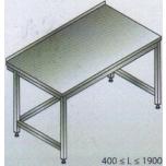 Roostevaba laud 1500x700x850mm