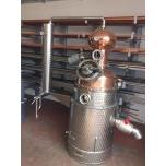 Destilaator 500L gaasiküttel, sfäärilise otsaga